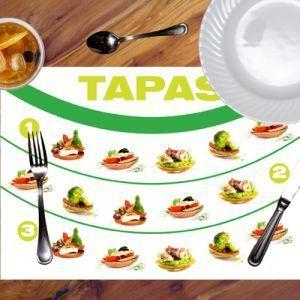 Manteles de papel con carta menu