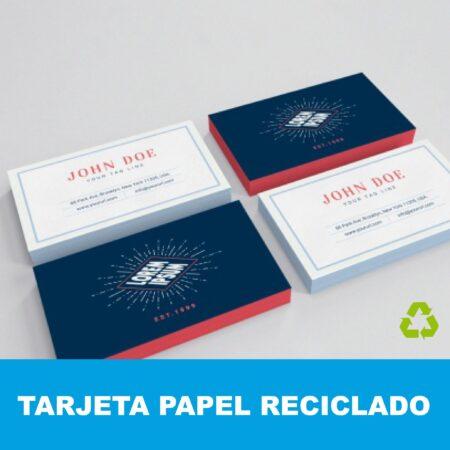 Tarjetas papel reciclado