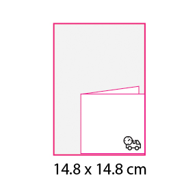 Revistas sin cubierta 14.8×14.8 cm express