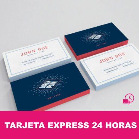 Tarjetas de visita express 24 horas