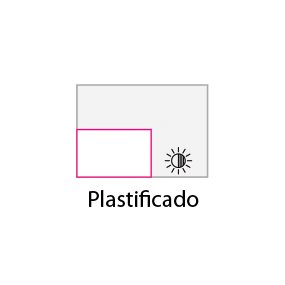 Tarjeta plastificada