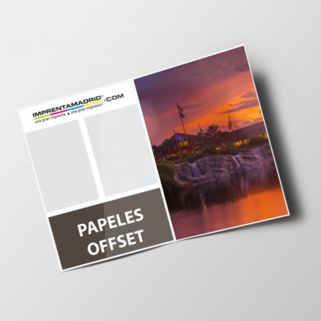 Revistas sin cubierta papeles offset