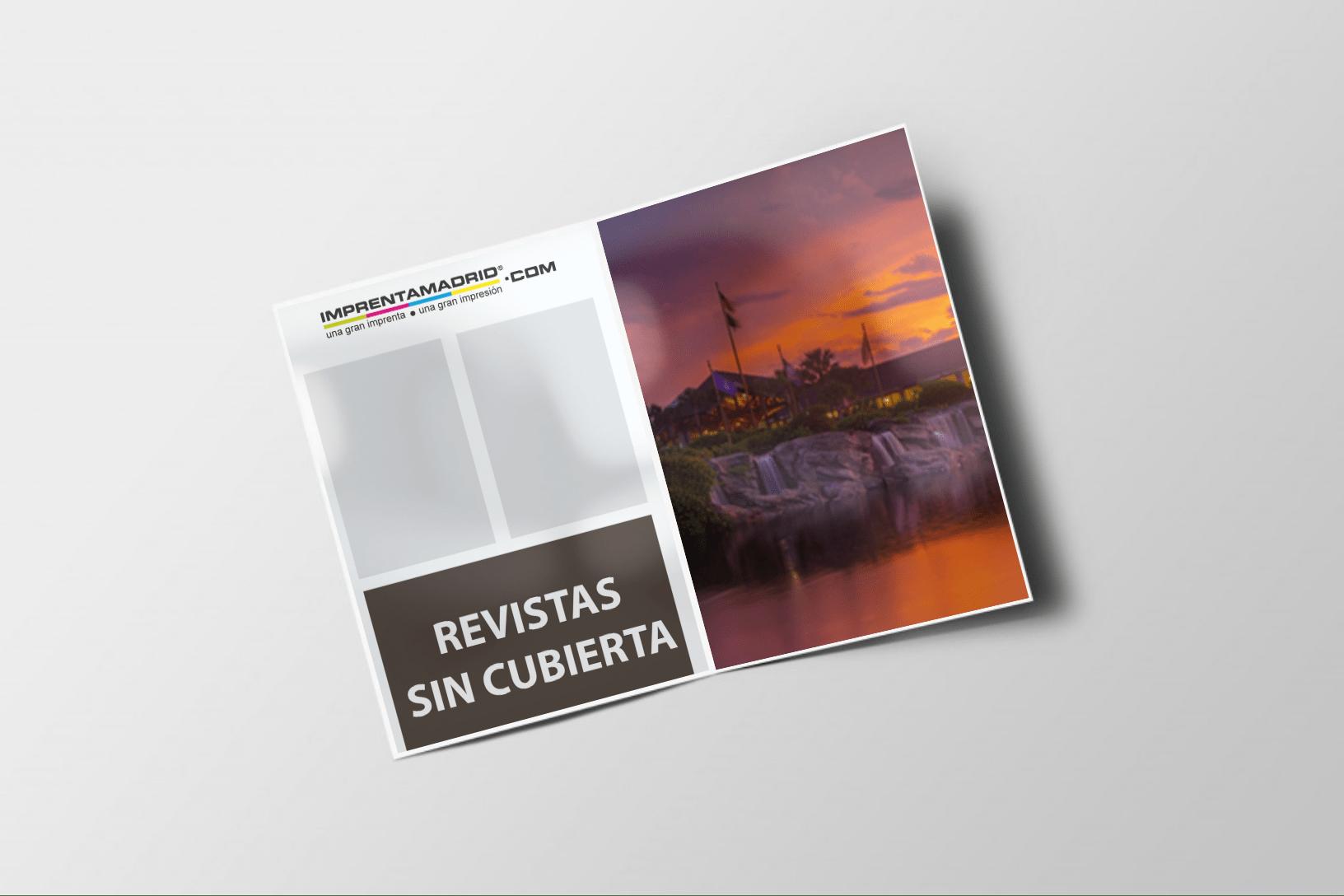 Revistas sin cubierta 210 x 280 mm