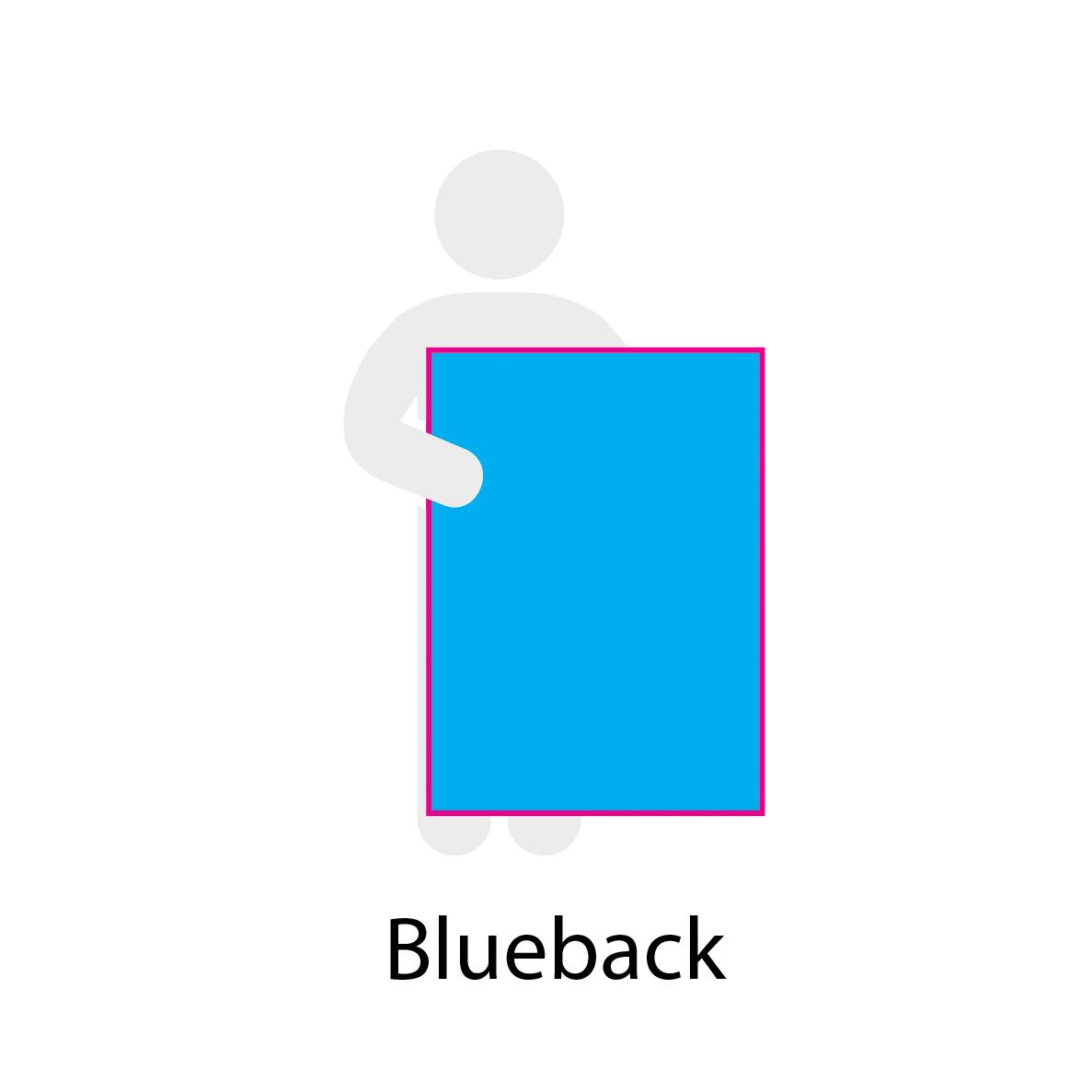 Cartel papel blueback