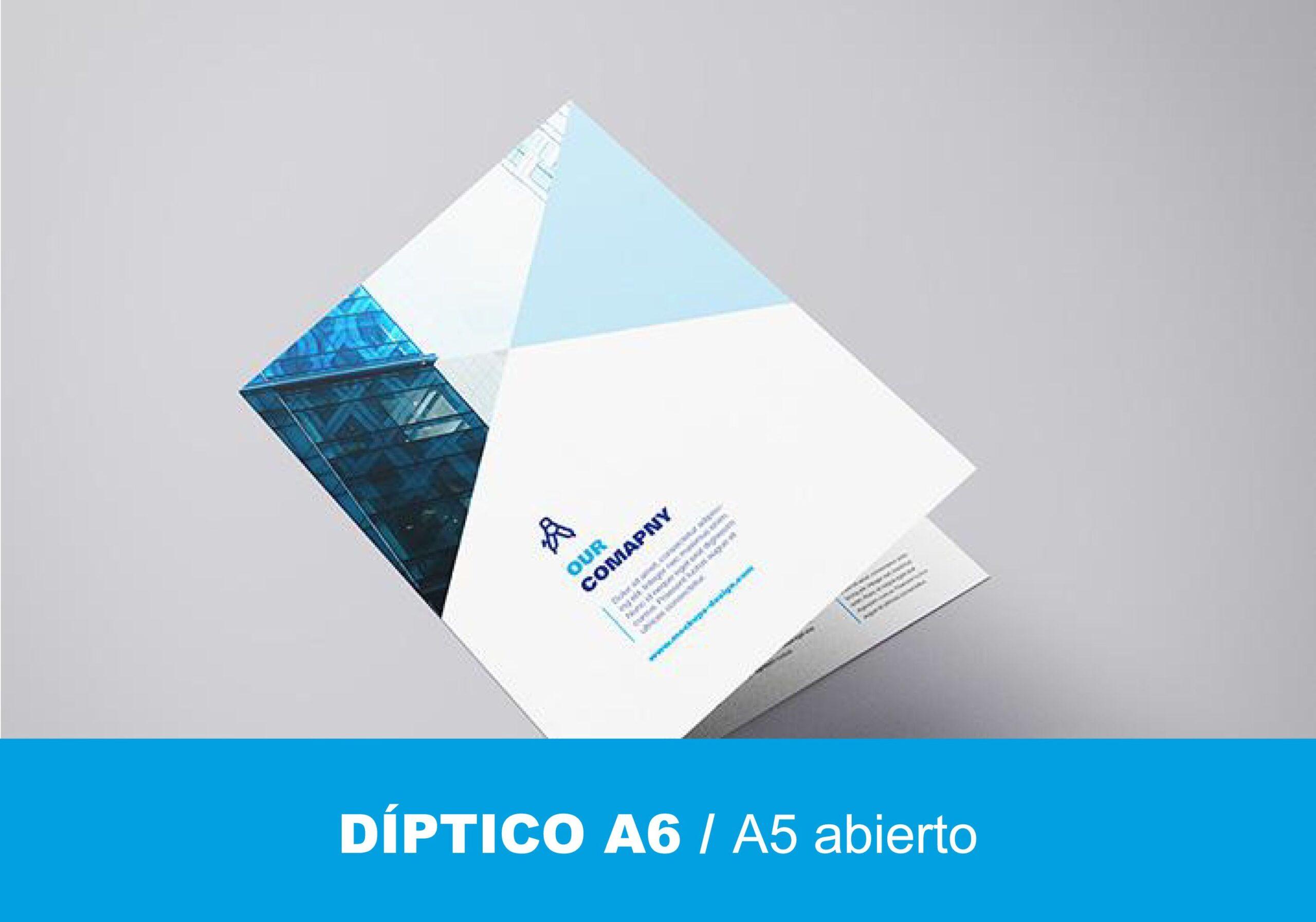 Díptico A6
