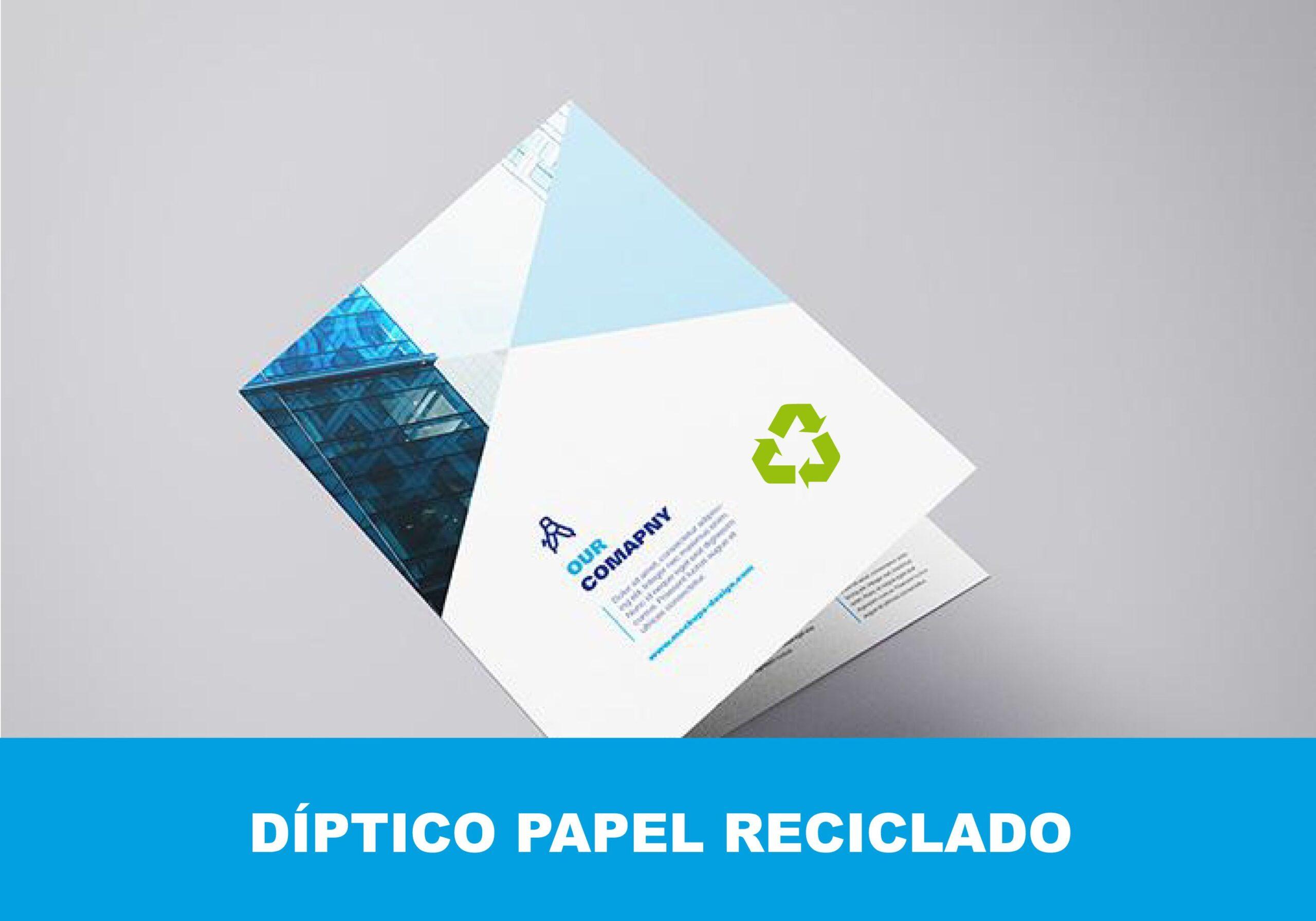 Díptico papel reciclado