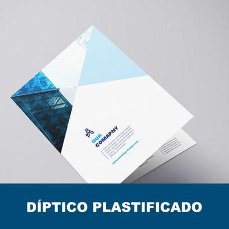 Diptico plastificado