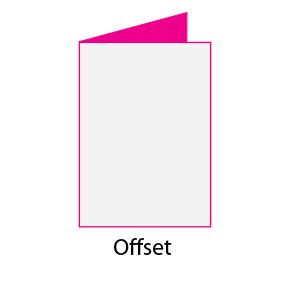 Díptico papel offset