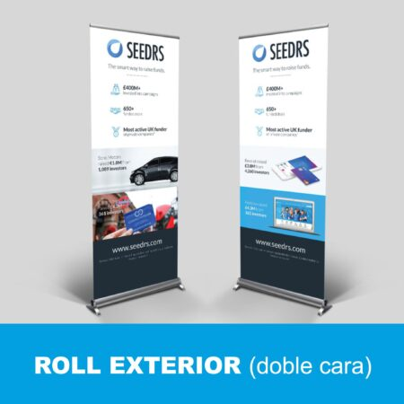 Roll up doble cara para exterior