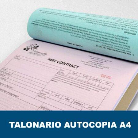 Talonarios autocopiativos encolados A4
