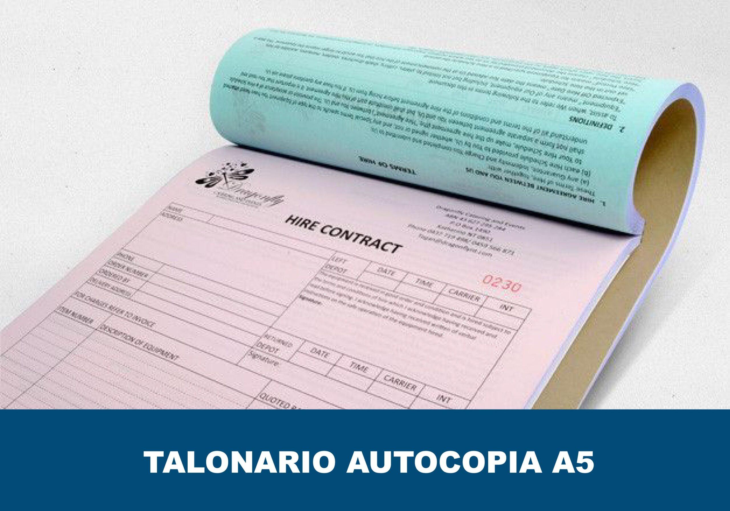 Talonarios autocopiativos encolados A5
