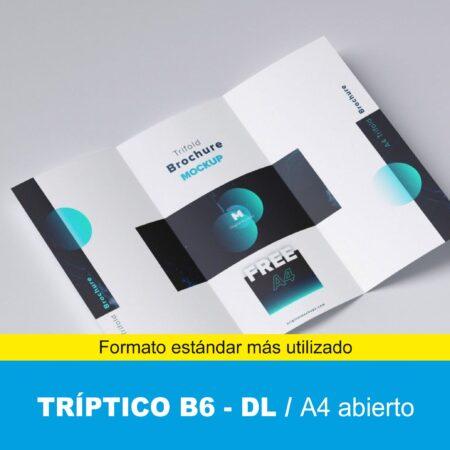 Tríptico B6 10x21 cm