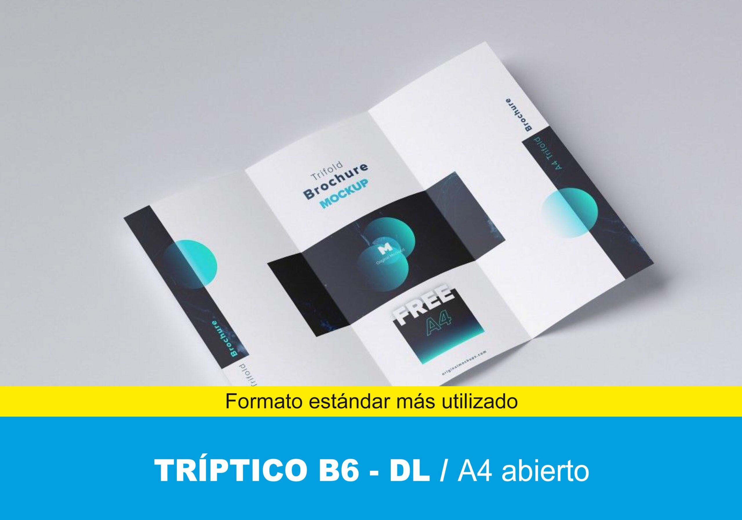 Tríptico B6 10×21 cm