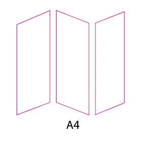 Tríptico A4 formato cerrado