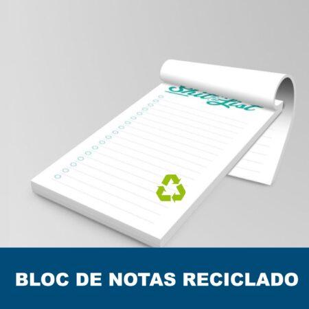 Bloc de notas con engomado reciclado