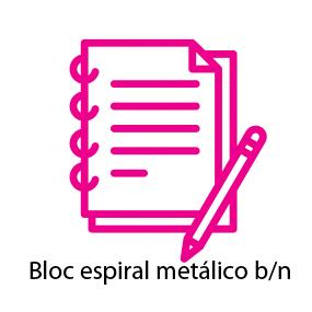 Bloc con espiral metálico b/n
