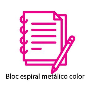 Bloc de notas espiral metalico