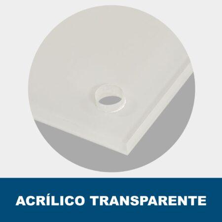 Placa acrílico transparente
