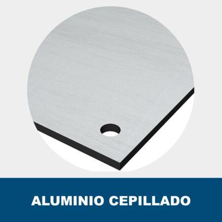 Placa aluminio cepillado