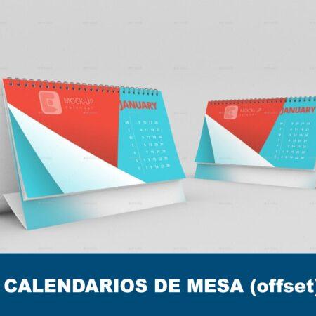 Calendarios de mesa offset