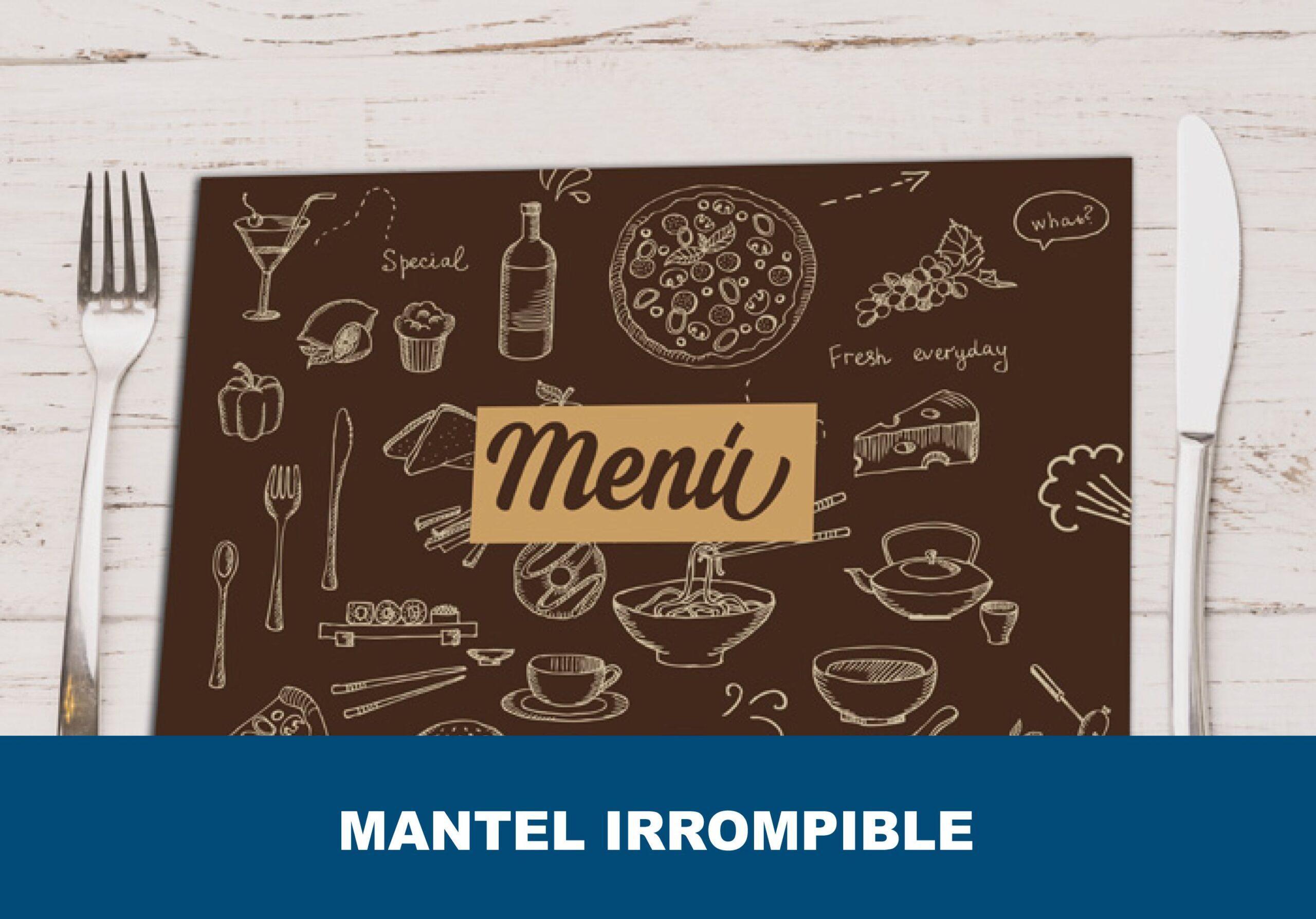 Mantel individual irrompible