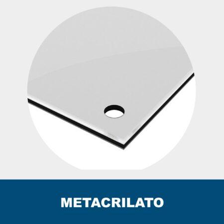 Placa metacrilato