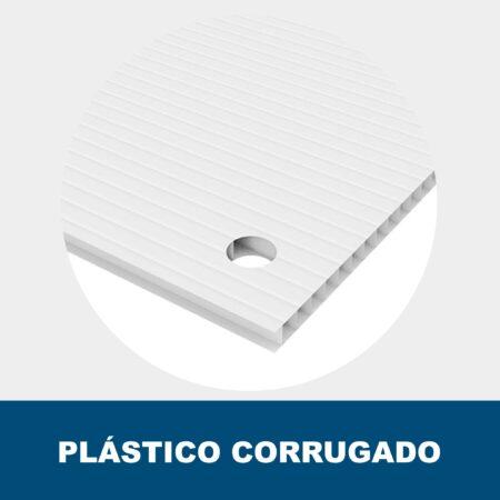 Cartel plástico corrugado