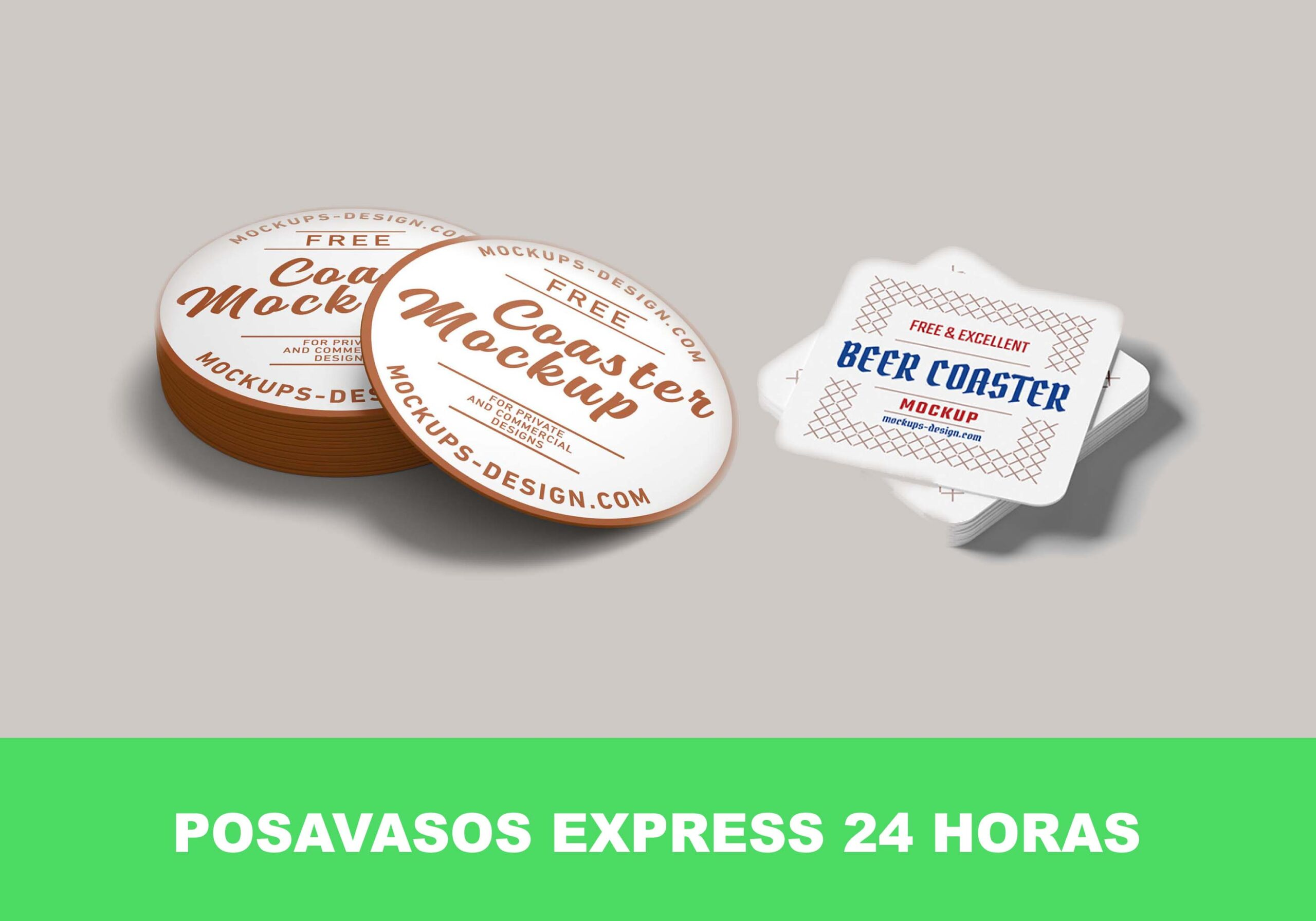 Posavasos de cartón express