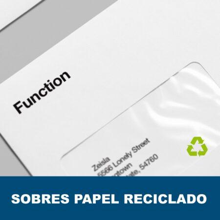 Sobres papel reciclado