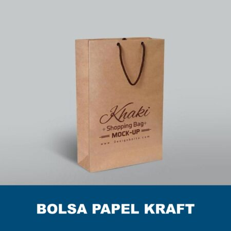 Bolsa de papel kraft marrón