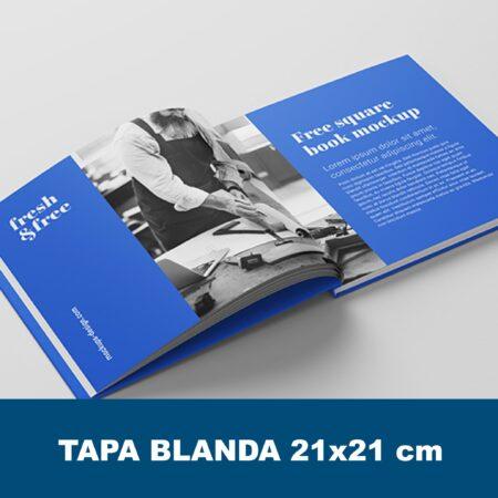 Catálogo con cubierta 21x21 cm